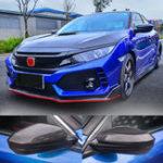 Оригинал Крышки обивки бокового зеркала заднего вида из углеродного волокна для Honda Civic 16-2018
