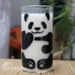 Оригинал 290мл Симпатичные Panda Шаблон Стеклянная чашка с молоком Кофейная чашка