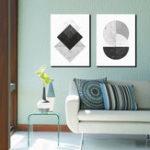 Оригинал Miico Hand Painted Combination Decorative Paintings Geometric Patterns Wall Art For Home Decoration