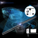 Оригинал 3D 224LED WiFi Holographic Hologram LED Stage Light Projector Display Advertising Fan