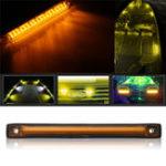 Оригинал 8 дюймов 18 LED Авто Тонкий Стропы для линий электропередач Водонепроницаемы Боковые габаритные огни 12 В Лампа для прицепа грузового автомоб