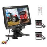 Оригинал 7 inch Monitor Display Truck Wireless Dual Waterproof Camera 2.4G Night Vision Reversing