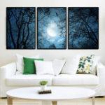 Оригинал Miico Ручная Роспись Три Комбинации Декоративные Картины Темные Облака Wall Art Для Украшения Дома