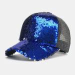 Оригинал Unisex 6-Color Sequined Mesh Cap Baseball Cap
