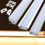 Оригинал Держатель 50см алюминиевый канал для LED полос света под лампой шкафа