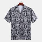 Оригинал Мужские этнические рубашки с принтом Шаблон Revere