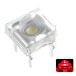Оригинал 100 ШТ. 5 ММ DC2V Прозрачный Круглый Верх Объектив Воды Прозрачная Лампа Испускающего Красный Цвет LED Диод DIY Лампа