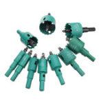 Оригинал 11pcs M42 HSS 16-40mm Green Hole Saw Cutter 16/18/20/22/25/28/30/32/35/38/40mm Hole Drill