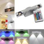 Оригинал 6 Вт LED Стены Лампа Свет с Дистанционный Контроллер Поворотный Прихожая Прожектор Спальня Home Decor
