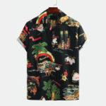 Оригинал Рубашки с коротким рукавом с принтом Men Creative Island