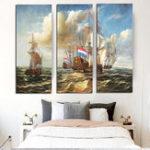 Оригинал Miico Ручная Роспись Три Комбинации Декоративных Росписей Морского Суда Wall Art Для Украшения Дома
