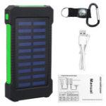 Оригинал 5000Mah Портативный Солнечная Power Bank Dual USB Эффективное зарядное устройство с LED Лампа Компас Восхождение Крюк