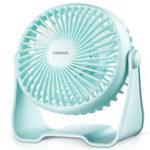 Оригинал KONKA-KF-07U100 3W Power USB зарядка Вентилятор охлаждения Мини малошумный 360 ° Вентилятор подачи воздуха
