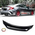 Оригинал Highkick Duckbill Trunk Авто Wing Глянцевый черный спойлер для 16-19 Honda Civic Sedan V3