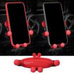 Оригинал Bakeey Mini Gravity Linkage Automatic Замок Air Vent Авто Держатель для телефона для 4.0-6.5 дюймов Смартфон