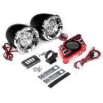 Оригинал Черный мотоцикл Руль Bluetooth 5.0 Аудиосистема FM Радио Стерео Усилитель Динамик