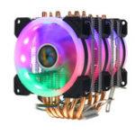 Оригинал CPU Cooler 6 Heatpipe 4-контактный RGB охлаждающий вентилятор для Intel 775/1150/1151/1155/1156/1366 драм