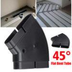 Оригинал PVC Ventilation System Environmental Protection 45° Flat Bent Connector PVC Tube 132x30mm
