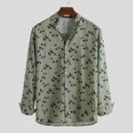 Оригинал Mens Bird Printing Рубашки с длинным рукавом с принтом