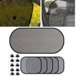 Оригинал 5Pcs Car Window Sun Visor Screen Car Side Rear Window Screen Sunshade Shield Curtain