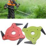 Оригинал Green or Red 3 Steel Blades Razors Lawn Mower Grass Eater Trimmer Head Brush Cutter Tool