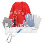 Оригинал Пожарные комплекты для выживания безопасности Веревка Whistle Home Spare Fire Escape Пакет На открытом воздухе Rescue Набор Kit