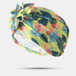 Оригинал Women Cotton Tray Flower Headband Cap Ethnic Hat
