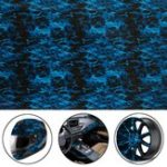 Оригинал Cool Blue Fire Hydrographic Water Transfer Film Hydro Dipping DIP Print All Car Decorations
