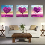 Оригинал Miico Hand Painted Three Combination Decorative Paintings White Flower Wall Art For Home Decoration