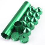 """Оригинал Зеленый 15Pcs 5/8 """"-24 или 10"""" x1-3 / 4 Алюминиевый топливный фильтр-ловушка для растворителя для NAPA 4003 WIX 24003"""