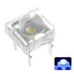 Оригинал 100 ШТ. 5 ММ 4Pin Прозрачный Круглый Верх Объектив Вода Прозрачная Лампа Испускающий Синий Цвет LED Диод DIY Лампа DC3V