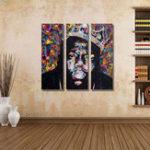 Оригинал Miico Ручная Роспись Три Комбинации Декоративные Картины Люди Портрет Масло Живопись Wall Art Для Украшения Дома