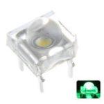 Оригинал 100 ШТ. 5 ММ 4Pin Зеленый LED Прозрачный Круглый Верх Объектив Вода Прозрачная Лампа Излучающий Диод Лампа DC3V
