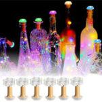 Оригинал 1 ШТ. 6 ШТ. Солнечная Приведенная в действие Бутылка Медь Пробка Провод LED Фея Строка Свет Партия Рождество Лампа