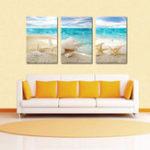 Оригинал Miico Ручная Роспись Три Комбинации Декоративных Росписей Пляжный Shell Wall Art Для Украшения Дома