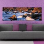 Оригинал DYC 10450 Single Spray Масло Картины Фотография Горная Река Wall Art Для Украшения Дома