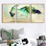Оригинал Miico Ручная Роспись Три Комбинации Декоративные Картины Танцы Youth Wall Art Для Украшения Дома