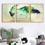 Оригинал Miico Hand Painted Three Combination Decorative Paintings Dancing Youth Wall Art For Home Decoration