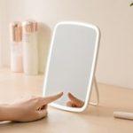 Оригинал Портативный Макияж Зеркало Настольный Светодиодный USB Аккумуляторная Складной Сенсорный Затемнения Лампа для Общежития Дома от Xiaomi Youpin