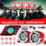Оригинал Мотоцикл Руль Bluetooth 5.0 Аудиосистема FM Радио Стерео Усилитель Динамик