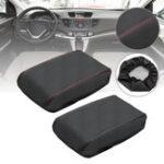 Оригинал Кожа PU Авто Центральная консоль подлокотника Коробка Защитная крышка для Honda CRV 12-16