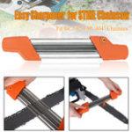 Оригинал 2 в 1 Легкая цепная пила для заточки цепей Металлический напильник Быстрая цепная пила для заточки 5,5 мм