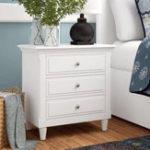 Оригинал Белый 3 ящика тумбочка деревянный шкаф Classic и современные элементы