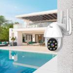 Оригинал BESDER P08 1080P H.265 Speed Dome На открытом воздухе Wi-Fi Беспроводной Pan Tilt IP камера Двухстороннее аудио IR Vision IP ONVIF Видеонаблюдение