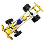 Оригинал 1/10 Модернизированный цельнометаллический шасси RC Авто в разобранном виде Набор для внедорожных грузовых автомобилей DIY Запчасти