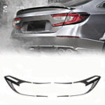 Оригинал 6шт черный ABS задний задний фонарь Лампа накладка для Honda Accord 2018 2019