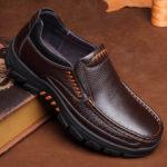 Оригинал              Мужская обувь из натуральной коровы Водонепроницаемы