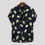 Оригинал              Мужские забавные повседневные рубашки с авокадо