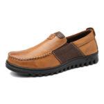 Оригинал              Мужская удобная кожаная обувь со швом из мокасина Soft Повседневная обувь