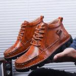 Оригинал              Натуральная кожа большого размера ручная строчка Soft Ботинки